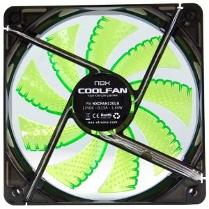 Ventoinha Nox Coolfan 120mm LED Green - NXCFAN120G
