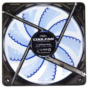 Ventoinha Nox Coolfan 120mm LED Blue - NXCFAN120B