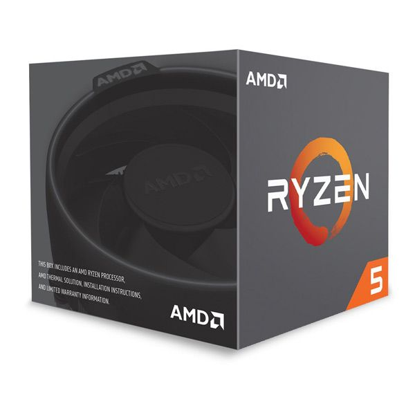 Cpu AMD Ryzen 5 2600X Hexa-Core 3.6GHz c/ Turbo 4.25GHz 19MB SktAM4 Box - YD260XBCAFBOX