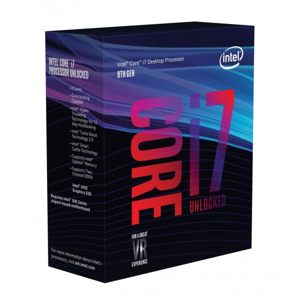Cpu Intel Core i7-8700K 3.7GHz 12MB Skt1151 - BX80684I78700K