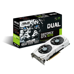 Asus GeForce GTX1070 Dual OC 8GB GDDR5 (PCI-E) - 90YV09T4-M0NA00