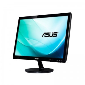 "Monitor LED ASUS VS197DE - 18.5""/47CM - HD 1366 X 768 - 5MS - 200CD/M2 - 90º/65º"