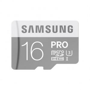 Samsung 16GB Micro SDHC Pro Class 10 U3 UHS-I - MB-MG16EA/EU