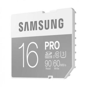 Samsung 16GB SDHC Pro Class 10 U3 UHS-I - MB-SG16E/EU