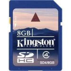 Kingston secure digital card 8gb - sd4/8gb